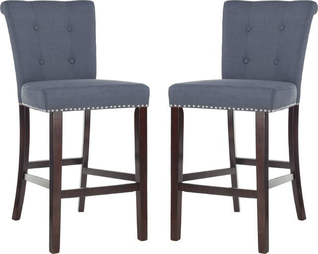 Excellent Taylor Bar Stool Set Of 2 Navy Espresso Ibusinesslaw Wood Chair Design Ideas Ibusinesslaworg
