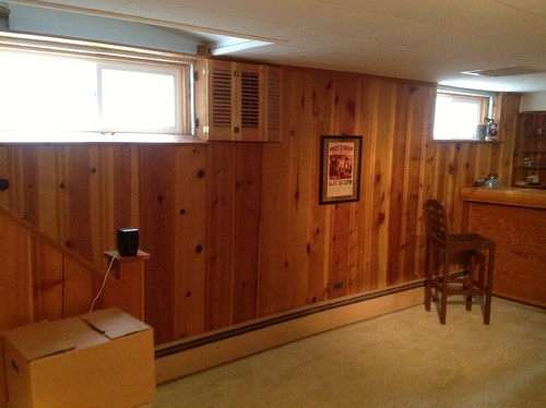 What Color White For Wood Paneled Basement