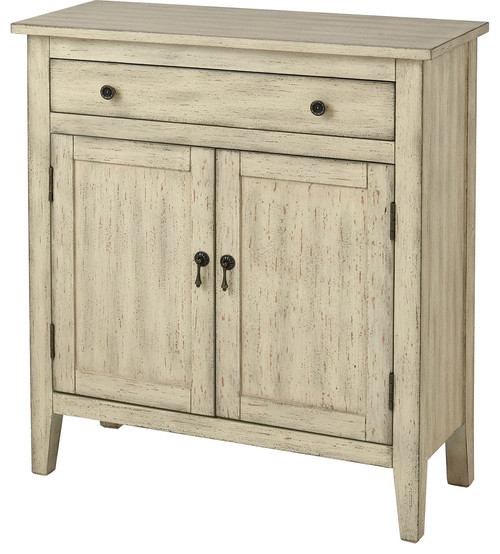 Holt Distressed Cream Cabinet