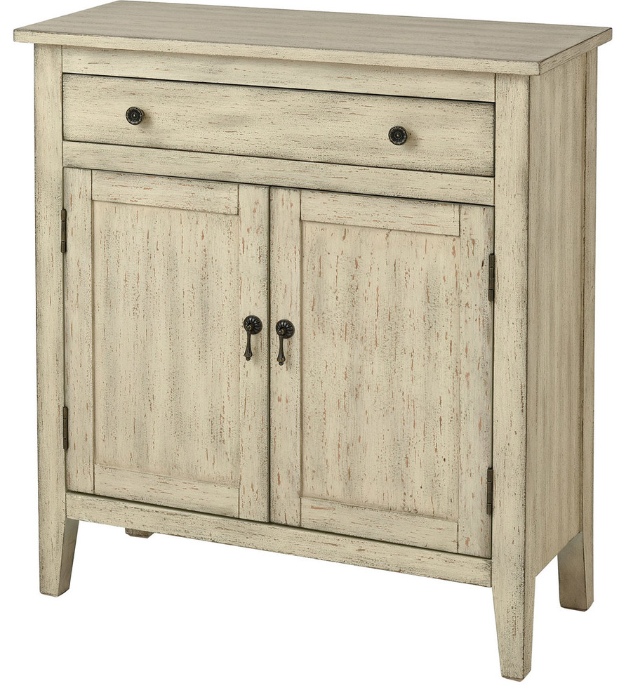 Holt Distressed Cream Cabinet - Farmhouse - Accent Chests ...