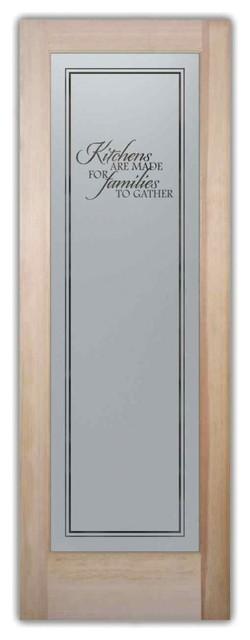 Sans Soucie Art Glass Pantry Door Family Kitchen Etched Glass Door Reviews Houzz