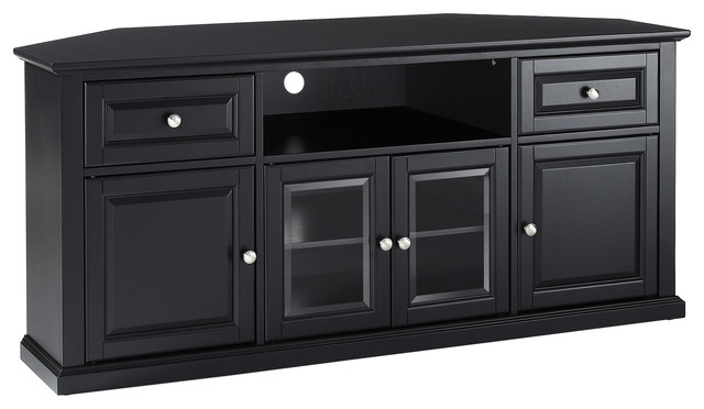 """60"""" Corner TV Stand - Transitional - Entertainment Centers And Tv"""