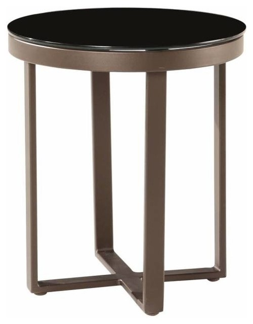 Amber Modern Outdoor Tall Outdoor Modern Side Table - Contemporary - Outdoor Side Tables - by Babmar