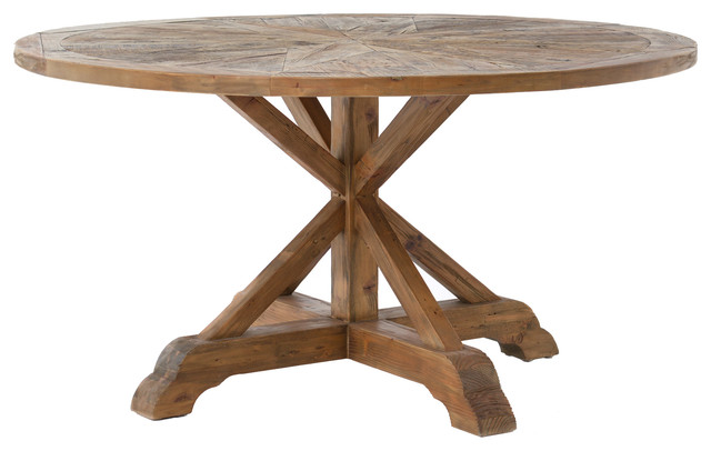 rustic round dining table Hughes Opio Round Dining Table   Rustic   Dining Tables   by The  rustic round dining table