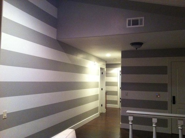 Painting Horizontal Lines Stripes On The Interior Modern