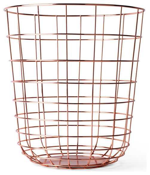 Wire Waste Paper Basket menu wire bin - transitional - wastebaskets -design public