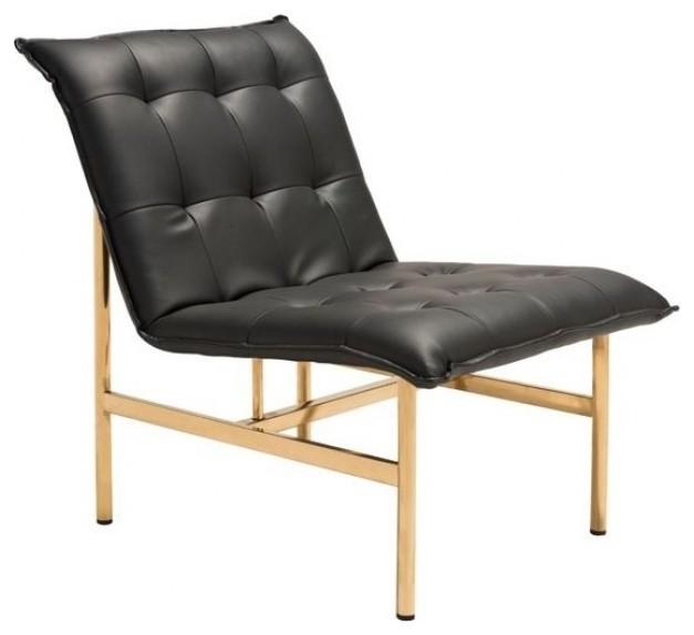 Zuo Modern Slate Chair Black And Gold Transitional