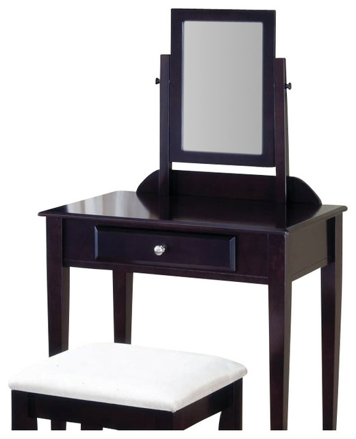 Coaster 2 Piece Vanity Set  Cappuccino transitional bedroom and makeup  vanities. Coaster 2 Piece Vanity Set  Cappuccino   Transitional   Bedroom