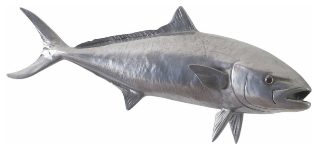 """35""""L Yellow Tailed King Fish Polished Aluminum Resin"""
