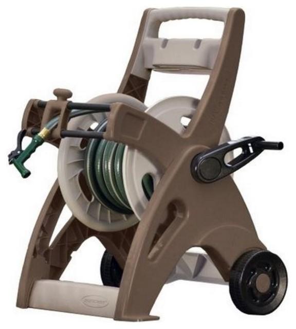 Suncast Hose Mobile Hose Reel Cart, 175u0027 Contemporary Garden Hose Reels