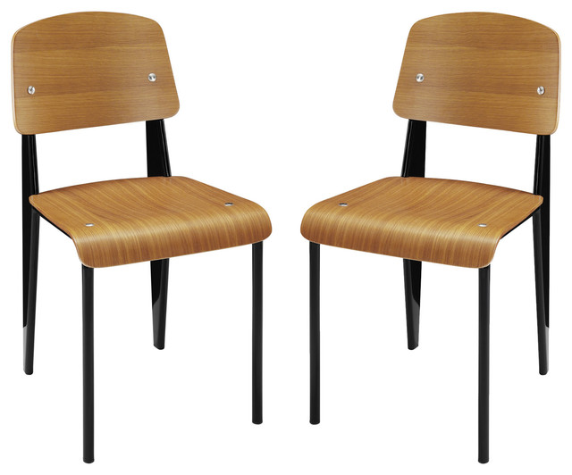 Cabin Dining Side Chair, Set Of 2, Walnut