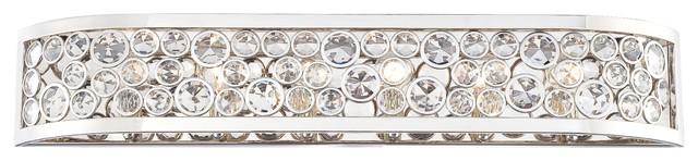 Minka Metropolitan Magique 6-Light Bath, Polished Nickel.