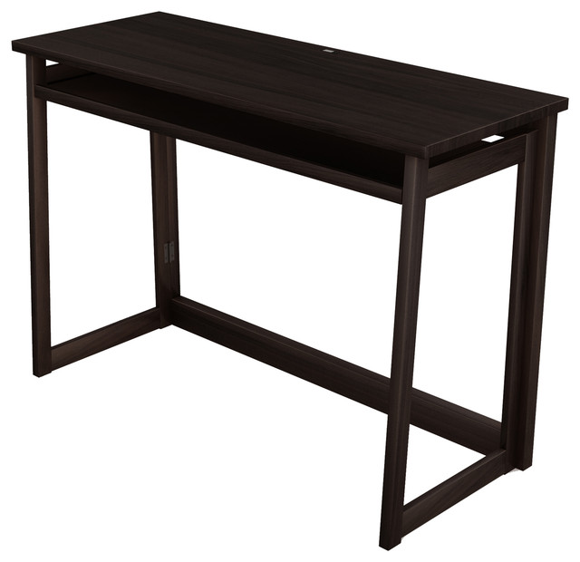 Stony Edge Folding Computer Desk With USB Port 40 Espresso