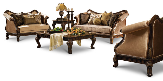 Hampton 5 Piece Living Room Set Victorian Living Room Furniture
