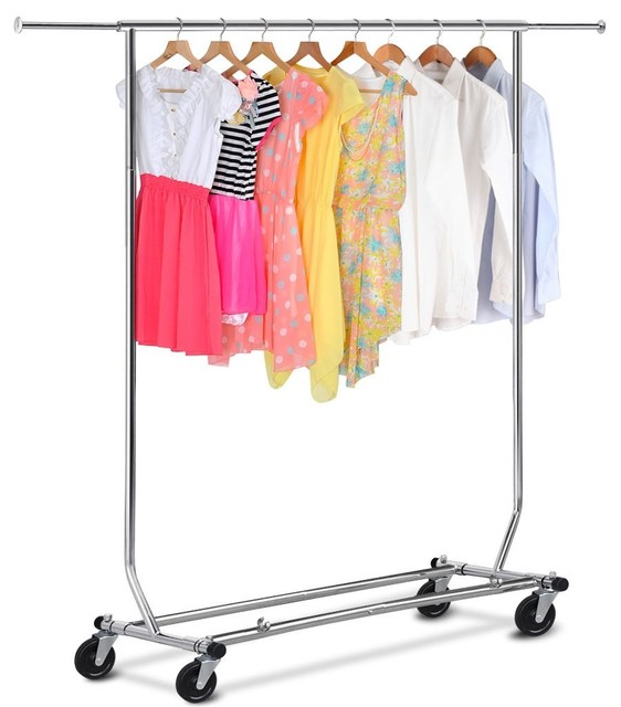 Folding Rolling Rack Traditional Clothes Racks By