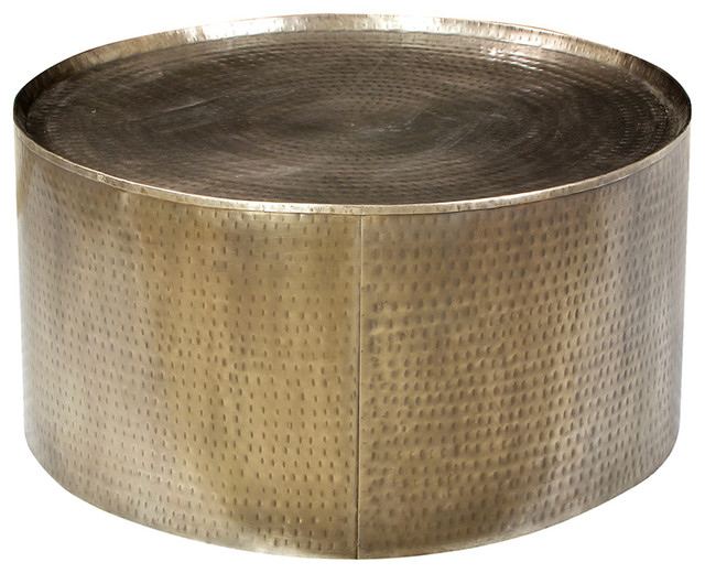 Superieur Hammered Brass Coffee Table   Transitional   Coffee Tables   By Design Mix  Furniture