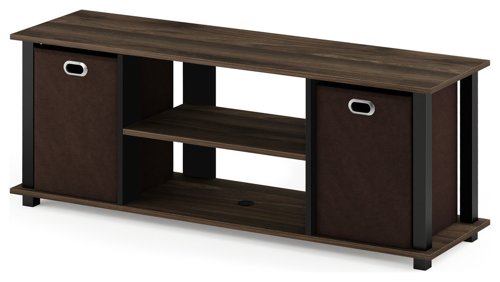 Furinno 13239 Simplistic TV Entertainment Center with Bin Drawers Columbia W...