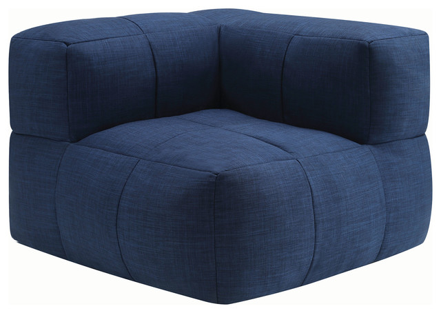 Swell Lazy Life Corner Bean Bag Navy Pabps2019 Chair Design Images Pabps2019Com