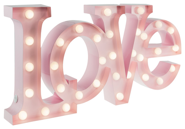 Love Table Lamp, Baby Pink, Small