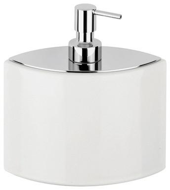 Glam 1634 Soap Dispenser in White Ceramic