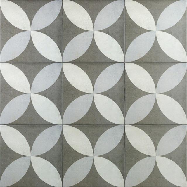 "Anabella 9""x9"" Encaustic Porcelain Field Tile, Saatchi"