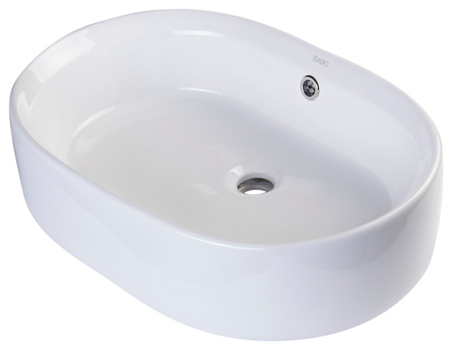 above mount bathroom sinks 22 quot oval ceramic above mount basin vessel sink modern 15350