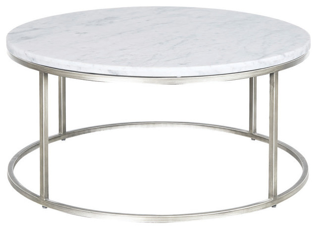 Merveilleux Palliser Furniture, Julien Round Cocktail Table, Chrome Base, White Marble  Top