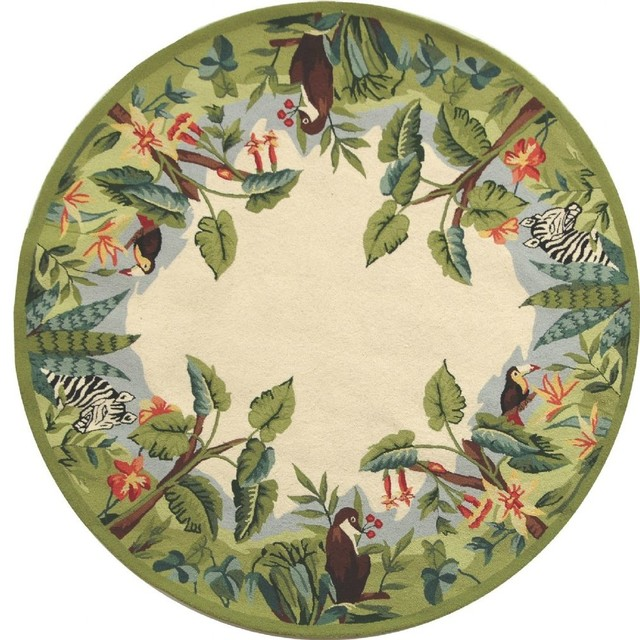 Country Amp Floral Chelsea Area Rug Tropical Area Rugs
