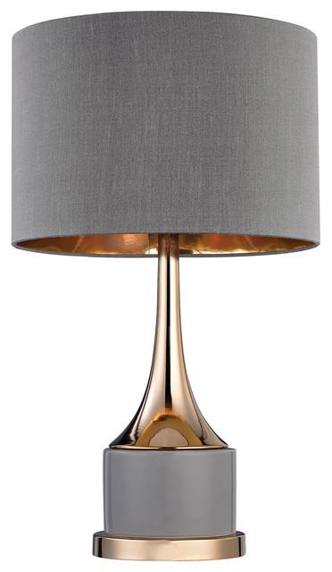 Small Gold Cone Neck Lamp.