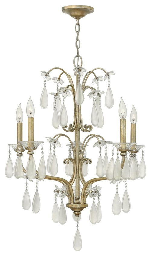 Fredrick Ramond FR40315SLF Francesca Single Tier Chandelier