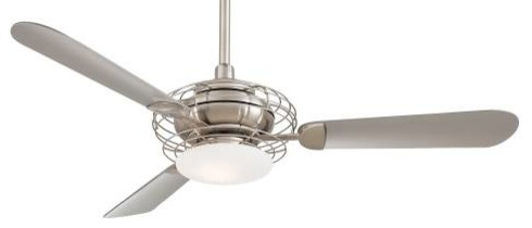 52 Acero Ceiling Fan In Brushed Steel Contemporary