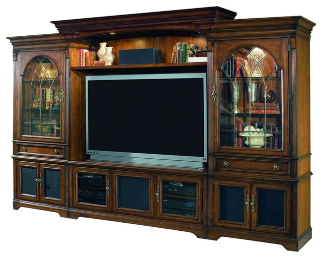 Delightful Brookhaven 141.5u0027u0027 Home Theater Group Traditional Entertainment Centers And  Tv