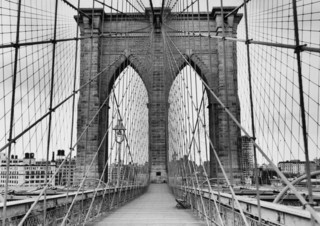 Pedestrian Walkway On The Brooklyn Bridge   Peel And Stick Removable  Graphic   Contemporary   Wall Decals   By Wallmonkeys Part 98