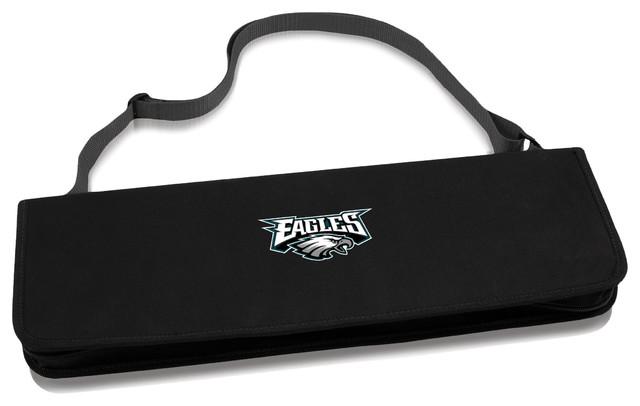 Philadelphia Eagles Metro Bbq Tote & Tools Set, Black.