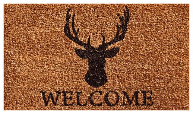 Deer Welcome Doormat 2'x3'