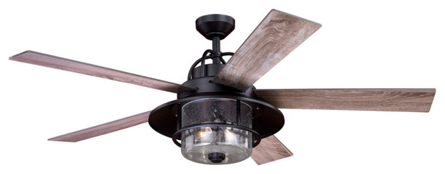 Charleston 56 In Bronze Farmhouse, Ceiling Fans Outdoor With Remote