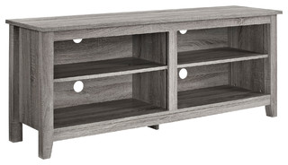 "58"" Ash Grey Wood TV Stand Console"