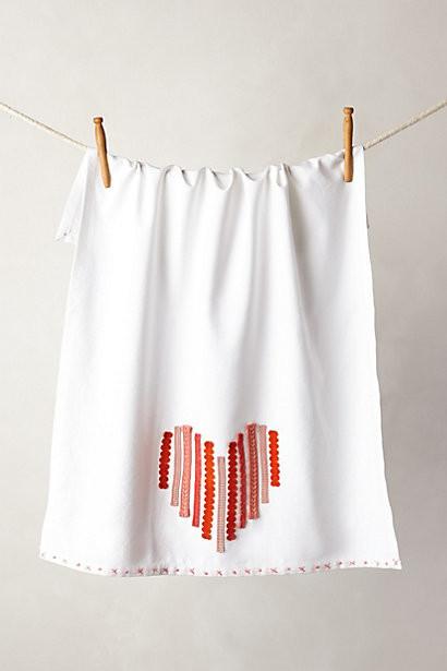 Ribbon Heart Dish Towel