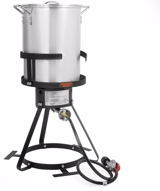 Turkey Fryer Pot And Gas Stove Burner Stand.