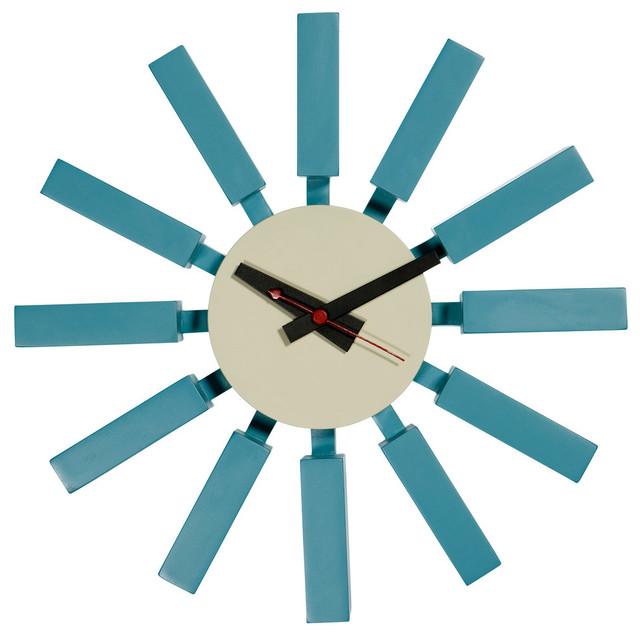 Designer Wall Clocks ocean wall clock - contemporary - wall clocks -mobital usa inc.