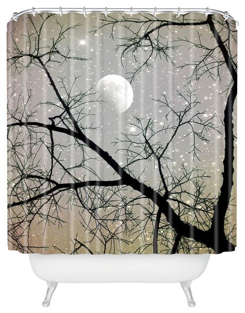 Shannon Clark Silver Sky Shower Curtain