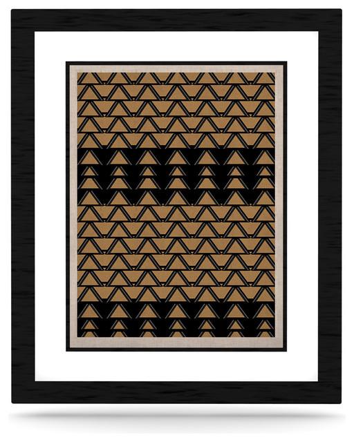 """Nina May """"Deco Angles Gold Black"""" Naturals Canvas"""