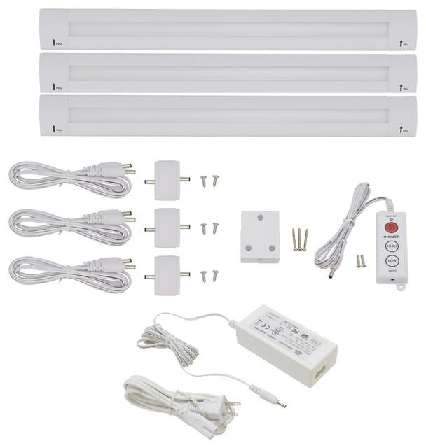 """Lightkiwi Lilium 12"""" Warm White LED Under Cabinet Lighting Premium Kit"""