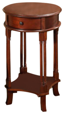 All Things Cedar Hr23 Round Accent Table.