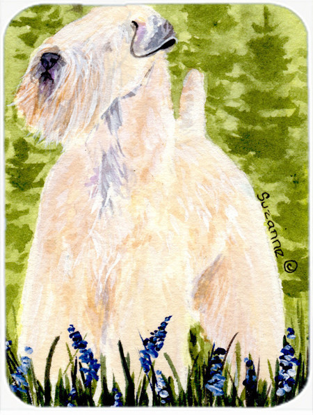 Wheaten Terrier Soft Coated Glass Cutting Board Large