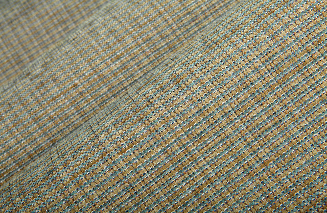 Picket Chenille Upholstery In Seabreeze - Chenille upholstery fabric