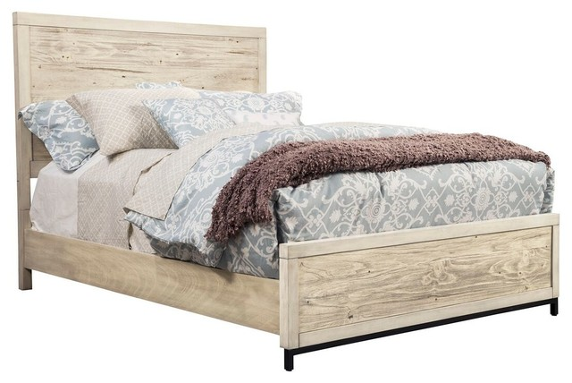 Distressed White Malibu Bed, California King.