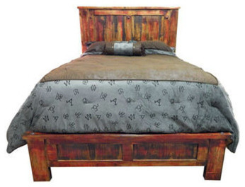 Katy Bed Queen Rubbed Red Beds By Million Dollar Rustic