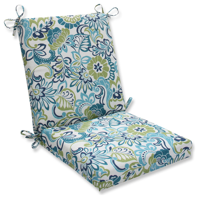 zoe mallard squared corners chair cushion tropical outdoor