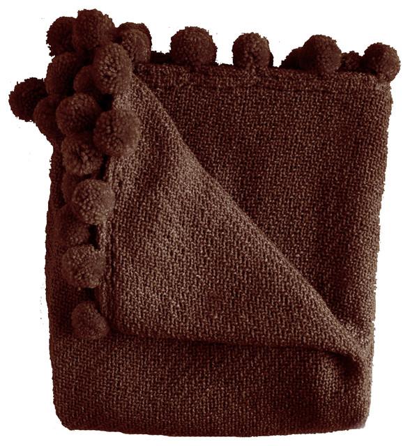 Jubilee Throw Blanket, Chocolate.